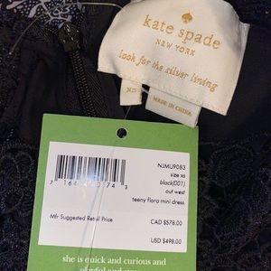 NWT Kate Spade out west teeny floral mini dress XS